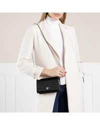Alexander McQueen Skull Mini Crossbody Bag Leather - Zwart