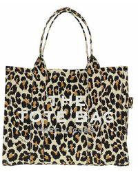 Marc Jacobs The Leopard Traveler Tote Bag - Neutre