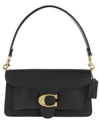 COACH Polished Pebble Leather Tabby Shoulder Bag 26 - Schwarz