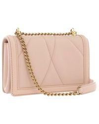 Dolce & Gabbana Devotion Crossbody Mini Bag Leather - Roze