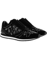 498b97e982a0 Tory Burch Rosas Embellished Slip-on Runner Sneaker in Gray - Lyst