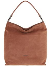 Coccinelle Keyla Suede Hobo Bag Tan - Marron