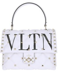 Valentino Candy Stud Handbag Leather OVP - Blanc
