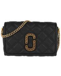 Marc Jacobs The Status Flap Crossbody Bag Leather Black - Noir