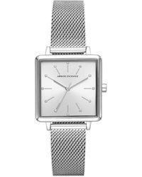 Armani Exchange Watch Lola Square AX5800 Silver - Métallisé