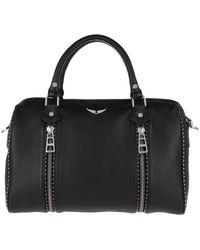 Zadig & Voltaire Sunny Medium Studs Travel Bag Black