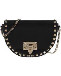 Valentino Rockstud Crossbody Bag Leather Black - Noir