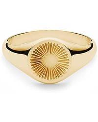 Miansai Solar Signet Ring Vermeil Polished Gold - Métallisé