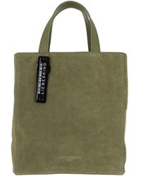Liebeskind Berlin Paperbag Tote Small Suede Moss - Green