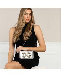 Dolce & Gabbana Sicily Crossbody Bag Leather - Metallic