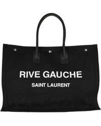 Saint Laurent Rive Gauche Tote Bag Black/white