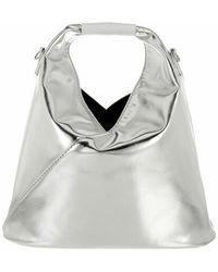 MM6 by Maison Martin Margiela Giapponese Xs Micro Hobo Bag - Metallic