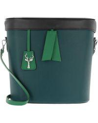 SAVAS - Victoria Bucket Bag Dark Green/ Gold - Lyst