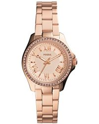 Fossil - Cecile Small Watch Rosegold - Lyst