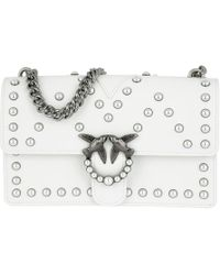 Pinko | Love Pearl Shoulder Bag Bianco Brill | Lyst