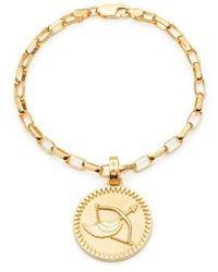 Rachel Jackson London Statement Sagittarius Zodiac Art Coin Bracelet S/M - Métallisé