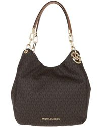 Michael Kors Lillie Large Chain Shoulder Tote Brown/acorn