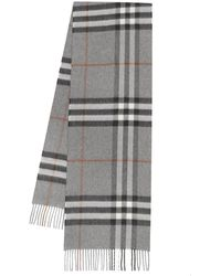 Burberry The Classic Check Cashmere Scarf - Gris