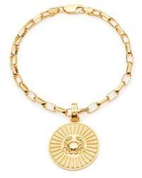 Rachel Jackson London Statement Cancer Zodiac Art Coin Bracelet S/M - Métallisé