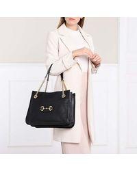 Gucci Medium Horsebit Shopping Bag Leather - Zwart