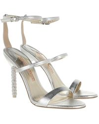 Sophia Webster Rosalind Crystal Sandal Silver - Mettallic