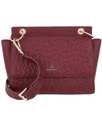 Aigner Mini Bag Carol Burgundy - Rouge
