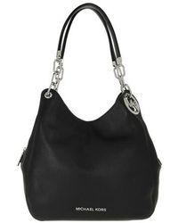 Lillie Large Chain Shoulder Tote Bag Black