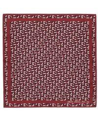KENZO Monogram Scarf - Rouge