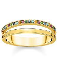 Thomas Sabo Ring Colored Stones - Métallisé