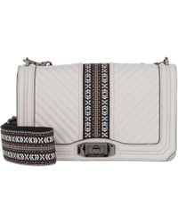 Rebecca Minkoff - Jacquard Love Crossbody Bag Putty - Lyst