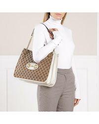 Gucci Medium Horsebit Shopping Bag Leather - Naturel