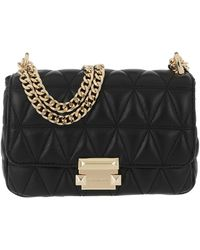 MICHAEL Michael Kors Sloan Small Chain Shoulder Bag Black - Noir