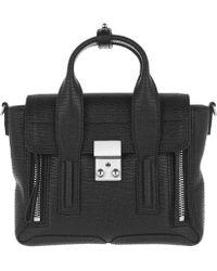 3.1 Phillip Lim - Pashli Mini Satchel Grained Leather Black/nickel - Lyst
