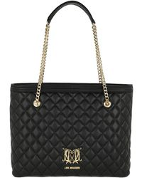 Love Moschino Quilted Logo Ping Bag Nero Lyst