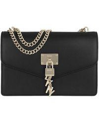 DKNY Elissa LG Shoulder Bag Black/Gold - Noir