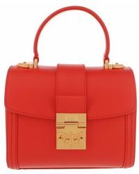 MCM Small Tracy Satchel Bag - Red