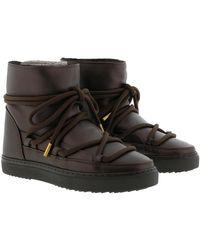 Inuikii Trainer Full Leather Black - Brown