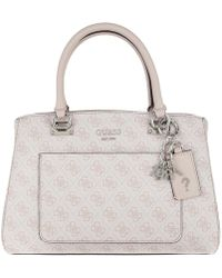 cb158c1bc089 Guess Seraphina Satchel Bag Blush in Pink - Lyst