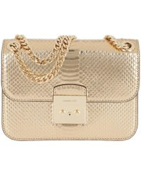 Michael Kors - Sloan Editor Md Chain Shoulder Bag Leather Pale Gold - Lyst
