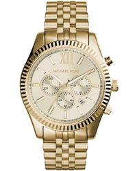Michael Kors - Gents Lexington Gold-tone Oversize Watch - Lyst