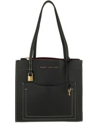 a83bd7563b9d Marc Jacobs - Medium Grind T Pocket Tote Bag Leather Black dark Cherry -  Lyst
