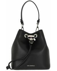 Karl Lagerfeld Ikonik Bucket Bag - Black
