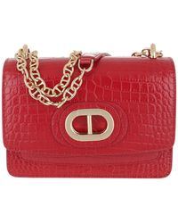 Dee Ocleppo Dee Siena Cocco Small Crossbody Red - Rouge