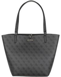 Guess Alby Toggle Tote Coal Black - Noir