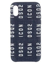 DSquared² Icon iPhone X Smartphone Case - Bleu