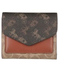 COACH Signature Carriage Wyn Small Wallet - Marron