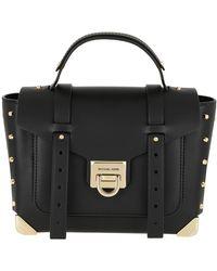 Michael Kors Manhattan Md School Satchel Bag Black
