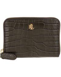 Lauren by Ralph Lauren Small Zip Wallet Deep Olive - Vert