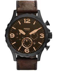 Fossil Watch Nate JR1487 Black - Noir