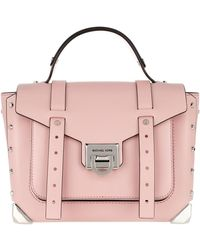 MICHAEL Michael Kors Manhattan Md School Satchel Bag Smokey Rose - Pink